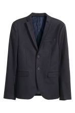 Blazer in cotone premium - Blu scuro - UOMO | H&M IT 2